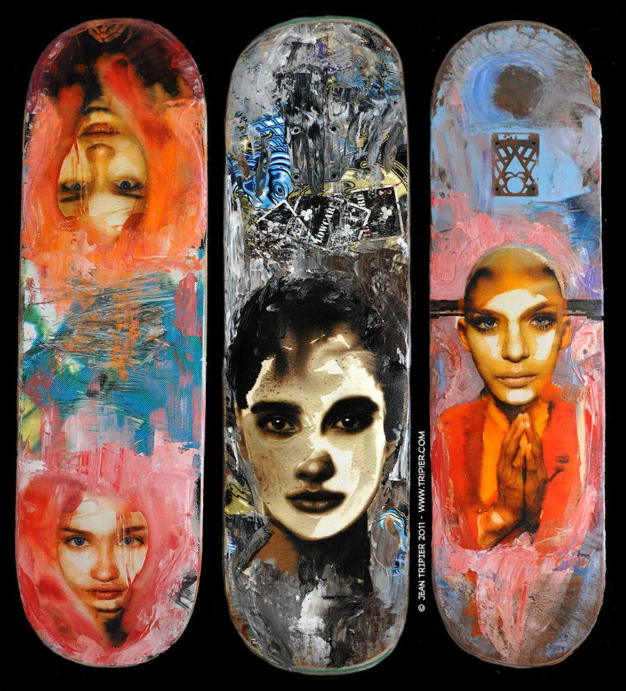 Skateboard Art Jean Tripier
